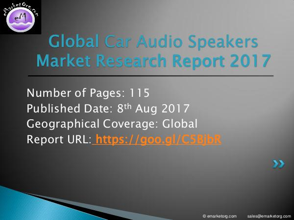 Car Audio Speakers Market Car Audio Speakers Market by Manufacturers, Countr