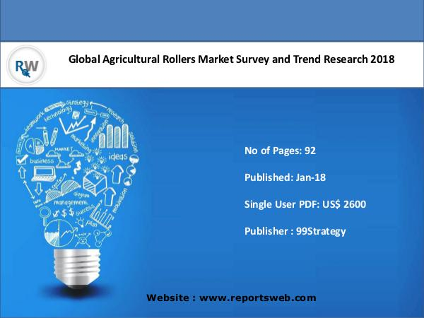 ReportsWeb Agricultural Rollers Market 2018 Industry Trends