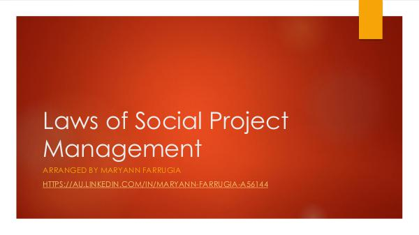 Laws of Social Project Management PDF Laws of Social Project Management LinkedIn