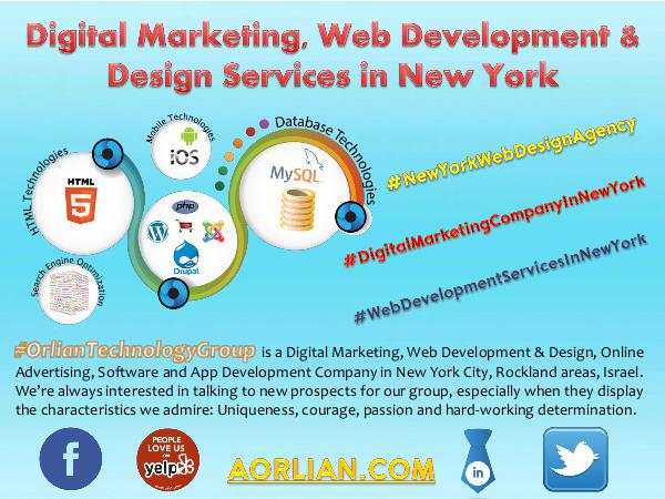 Digital Marketing, Web Development & Design Services in New York Digital Marketing, Web Development & Design Servic