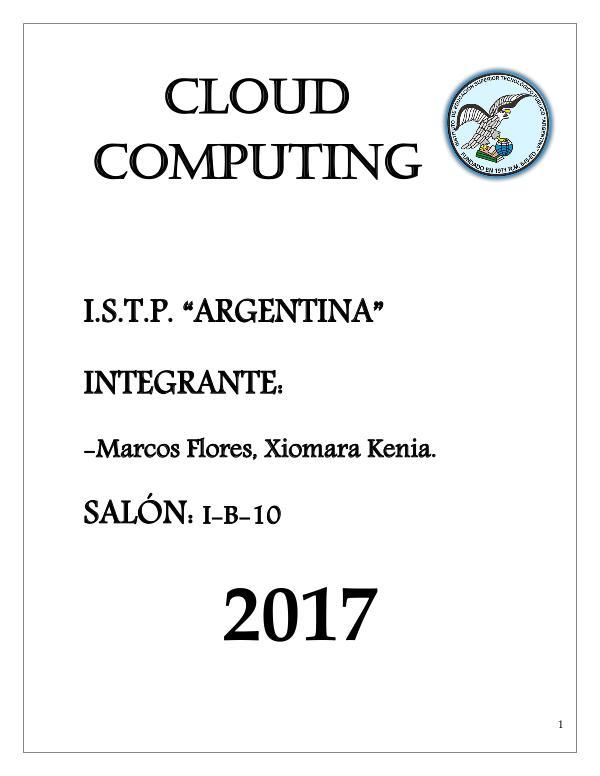 Cloud Computing Cloud Computing