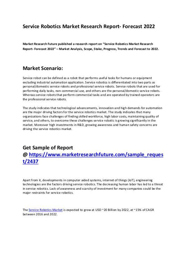 Service Robotics Market 2019