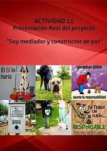 """ACTIVIDAD 11. Presentación final del proyecto: """"Soy mediador y constr"""