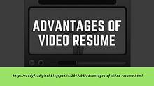 Advantages of Video Resume