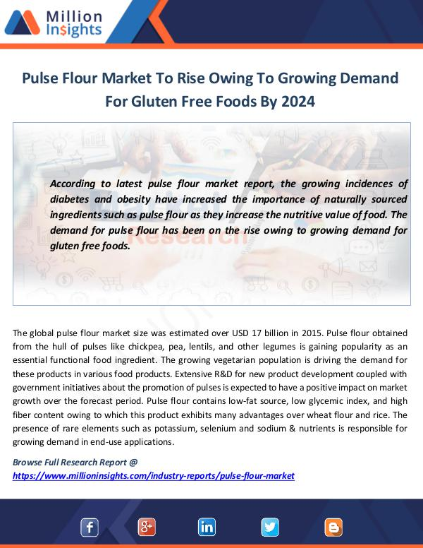 Market News Today Pulse Flour Market