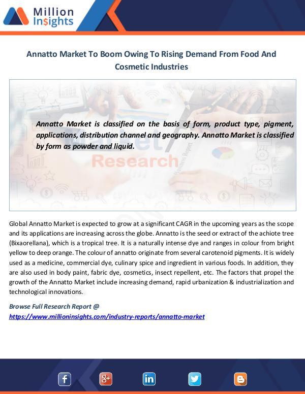 Market News Today Annatto Market To Boom