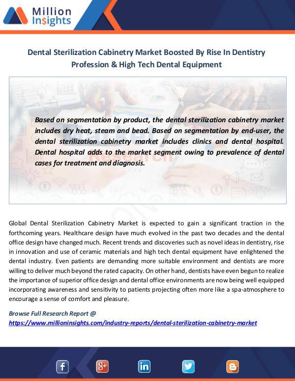Market News Today Dental Sterilization Cabinetry Market