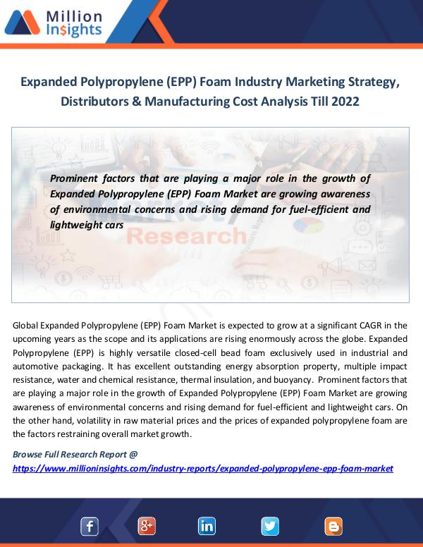 Market News Today Expanded Polypropylene (EPP) Foam Industry Marketi