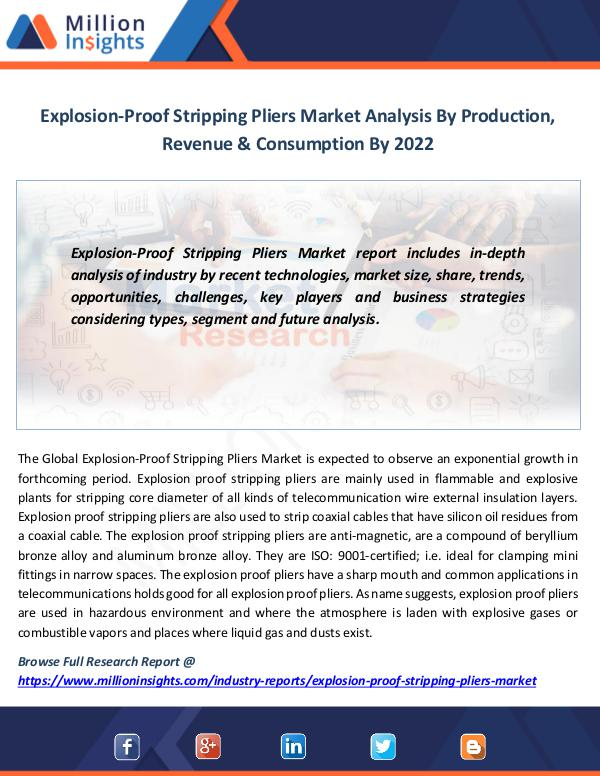 Market News Today Explosion-Proof Stripping Pliers Market