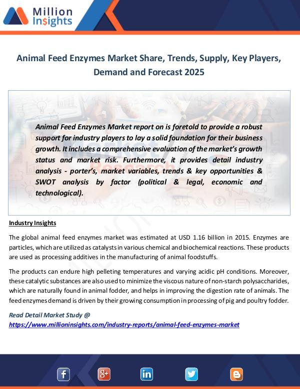 Market News Today Animal Feed Enzymes Market