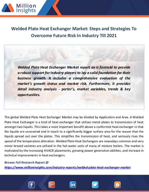 Market News Today Welded Plate Heat Exchanger Market