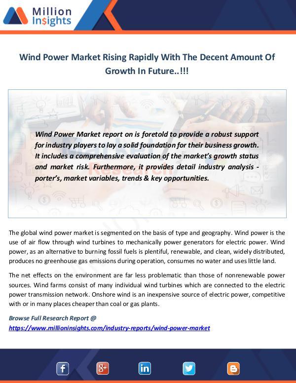 Market News Today Wind Power Market