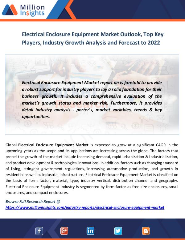 Market News Today Electrical Enclosure Equipment Market