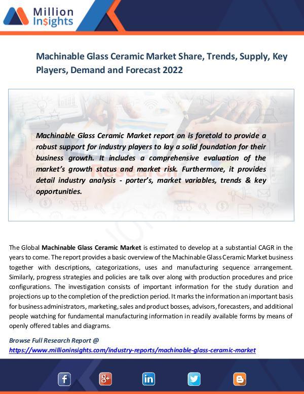 Market News Today Machinable Glass Ceramic Market