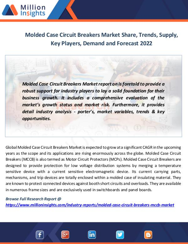 Market News Today Molded Case Circuit Breakers Market