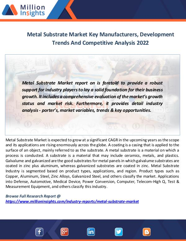 Market News Today Metal Substrate Market