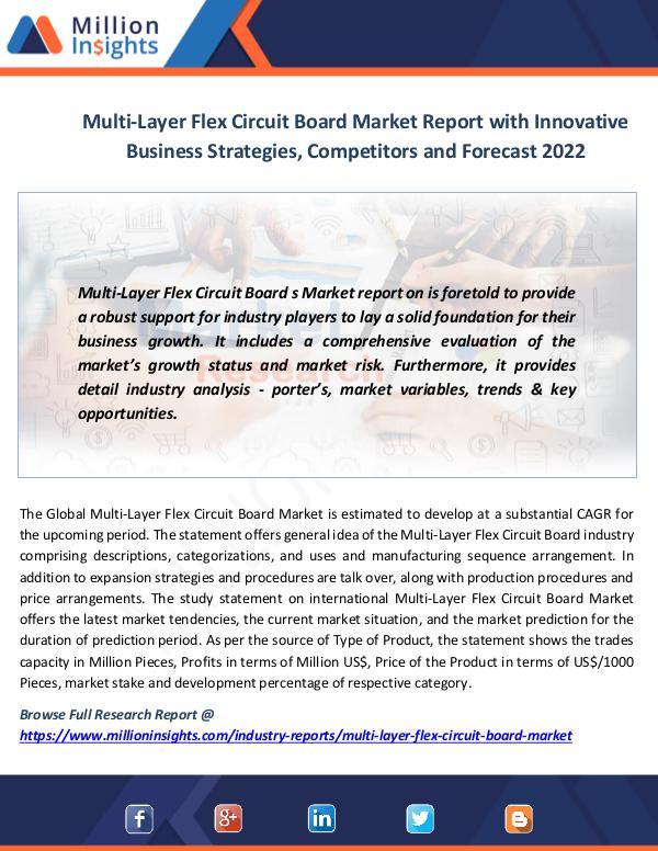 Market News Today Multi-Layer Flex Circuit Board Market