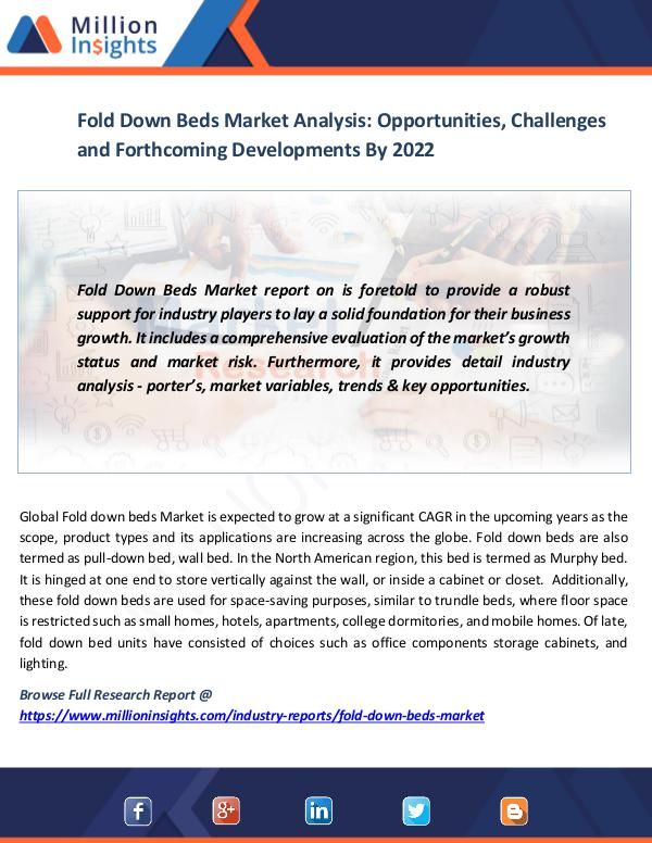 Market News Today Fold Down Beds Market