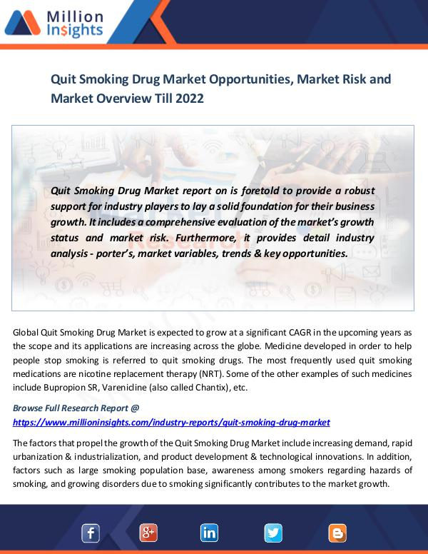 Market News Today Quit Smoking Drug Market
