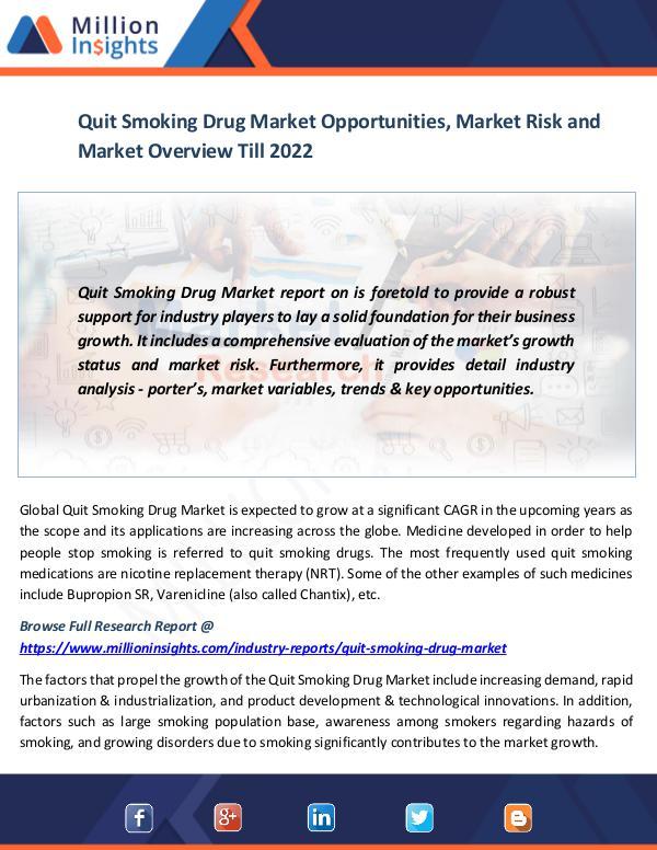 Market News Today Quit Smoking Drug Market