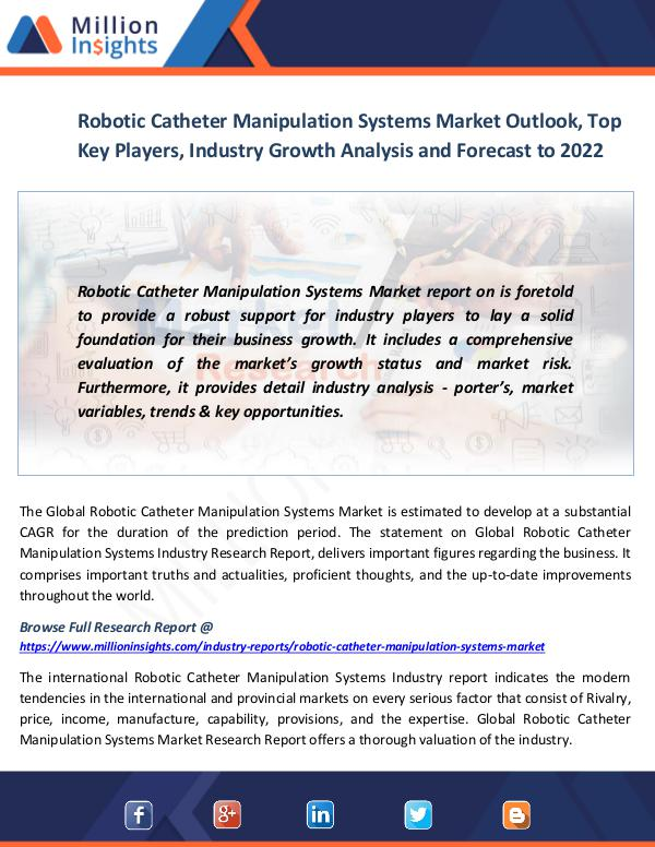 Market News Today Robotic Catheter Manipulation Systems Market