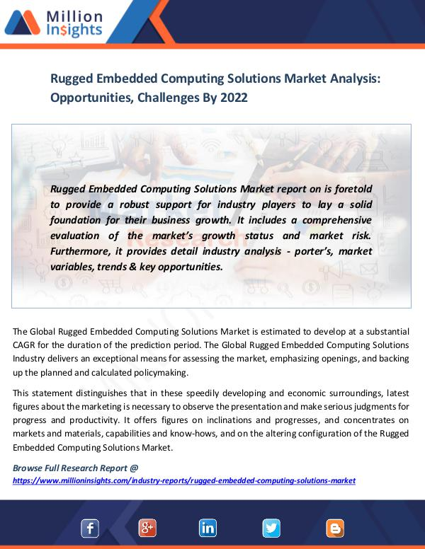 Market News Today Rugged Embedded Computing Solutions Market