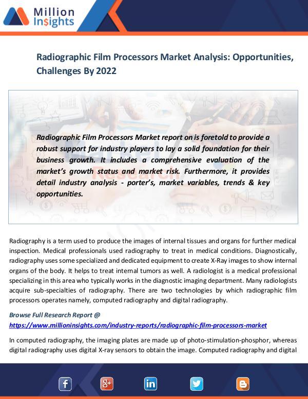 Market News Today Radiographic Film Processors Market