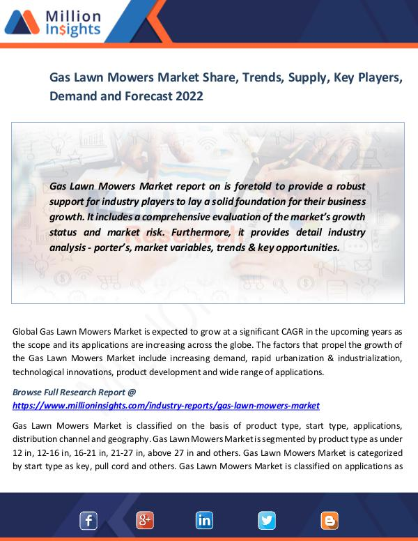 Market News Today Gas Lawn Mowers Market