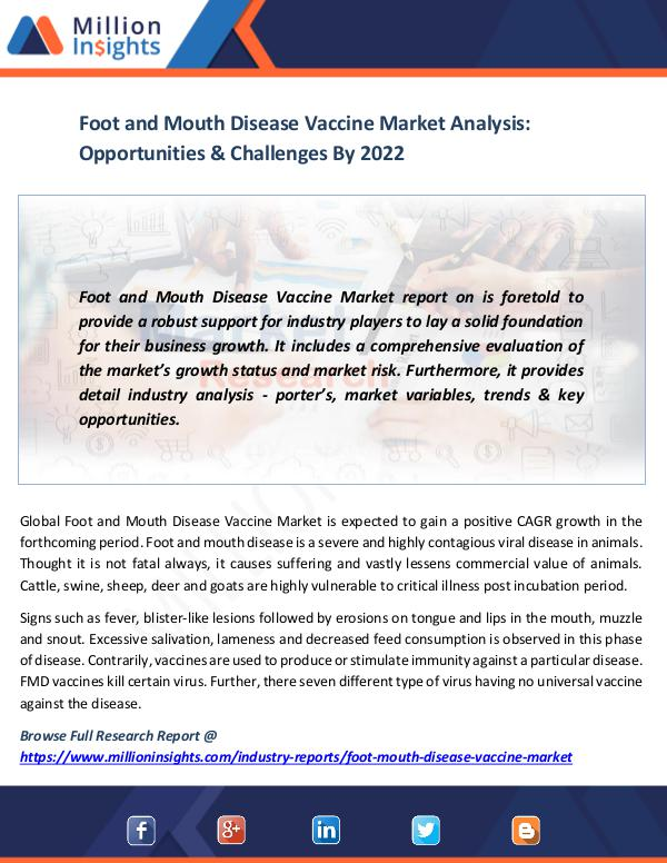 Market News Today Foot and Mouth Disease Vaccine Market
