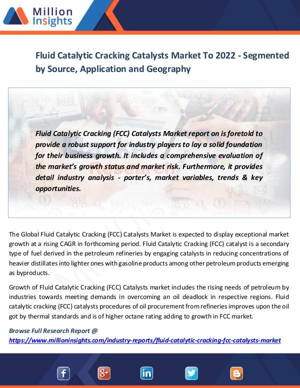 Market News Today Fluid Catalytic Cracking Catalysts Market