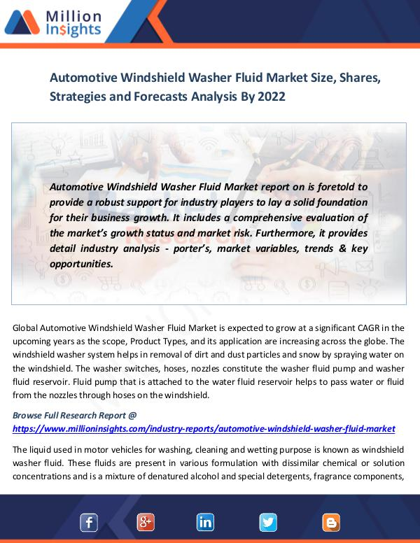 Automotive Windshield Washer Fluid Market