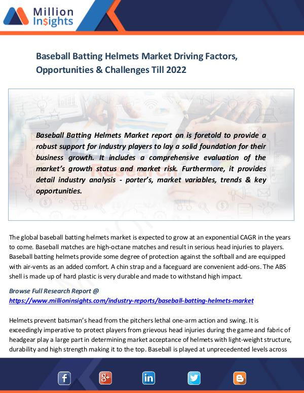 Baseball Batting Helmets Market