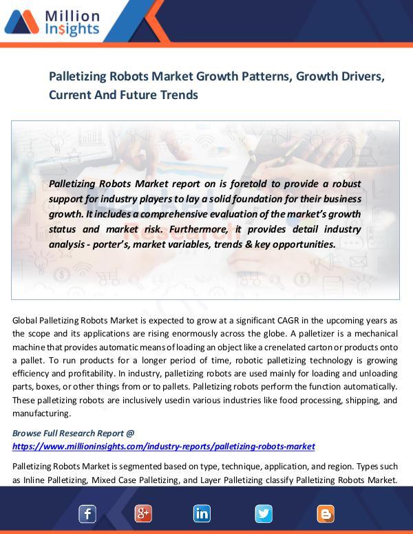 Palletizing Robots Market