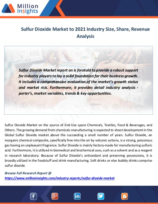 News on market Sulfur Dioxide Market