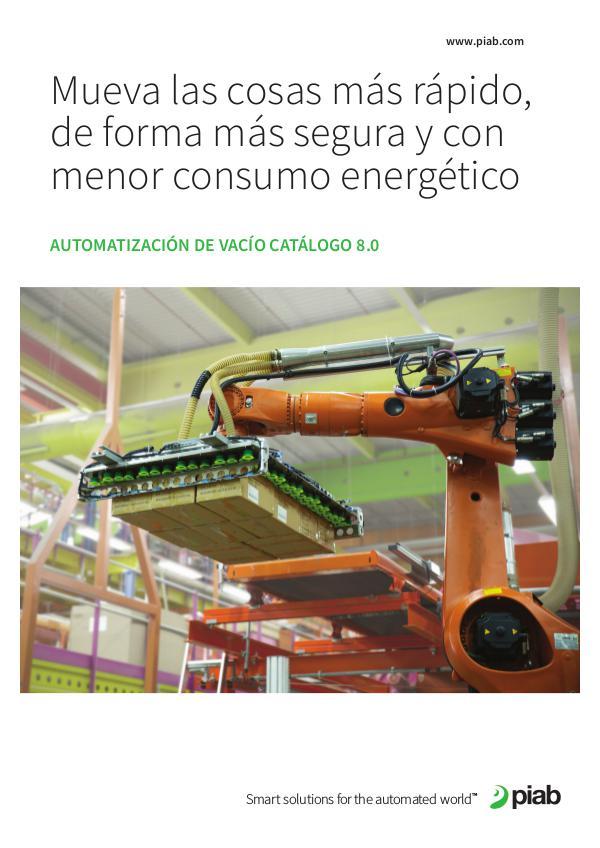 Piabs magazines, Spanish Automatización De Vacío Catálogo 8.0