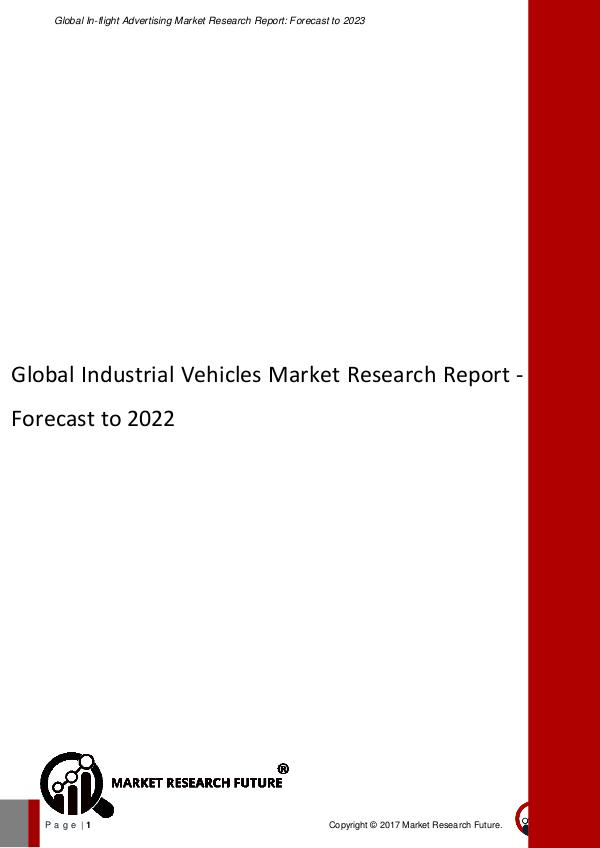 Asia Pacific Blood Glucose Test Strip Packaging Market Research Repor Global Industrial Vehicles Market Research Report