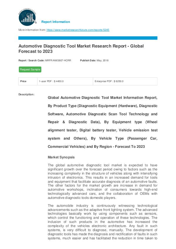Automotive Diagnostic Tool Market Research Report