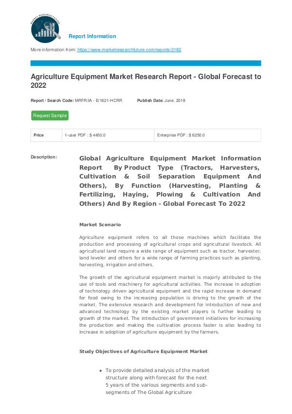 Agriculture Equipment Market Research Report - Glo