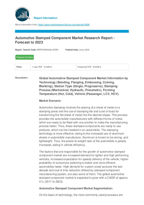 Automotive Stamped Components Market Research Repo