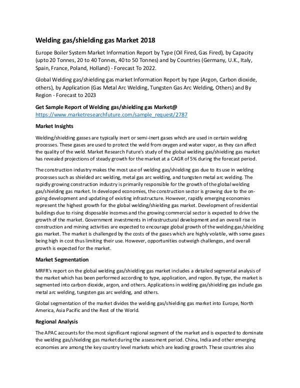 Welding Gas Shielding Gas Market_