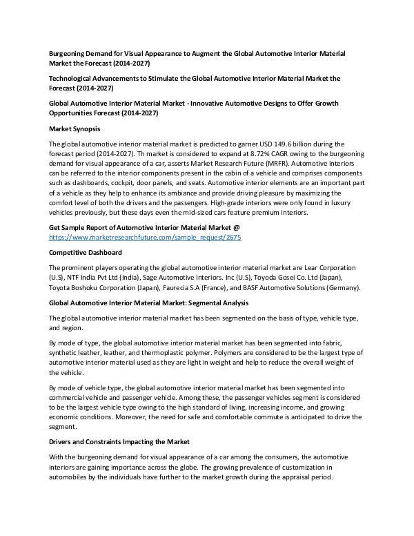 Global Automotive Interior Material Market_Written