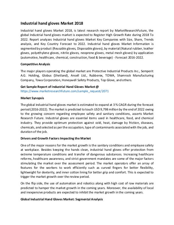 Global Industrial Hand Gloves Market_Written by Tr