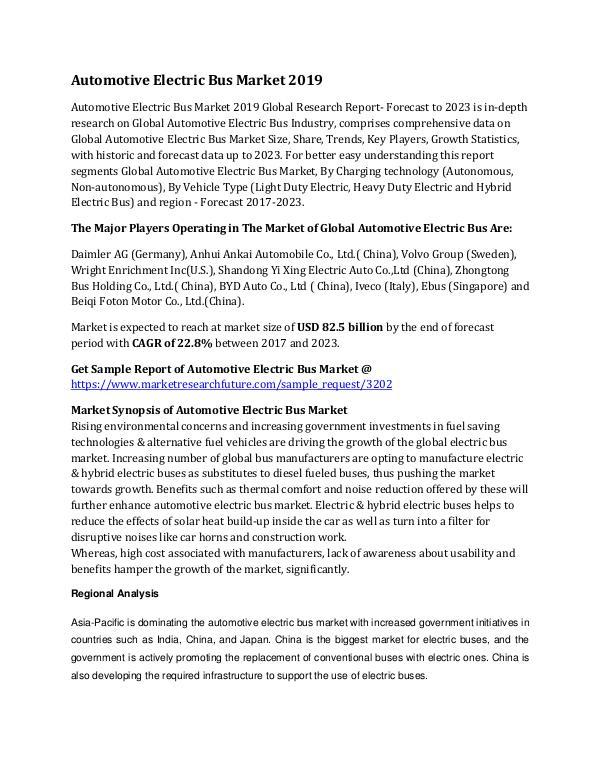 Global Automotive Electric Bus Market Research Rep