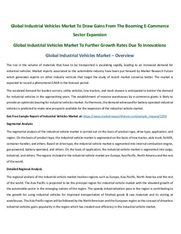 Global Industrial Vehicles Market by Aafreen