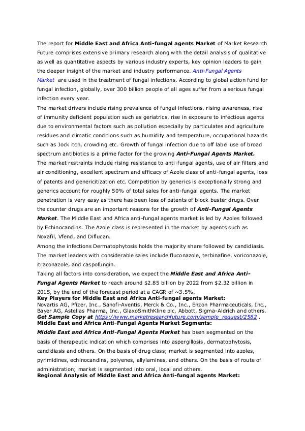 Healthcare Publications Anti-Fungal Agents Market