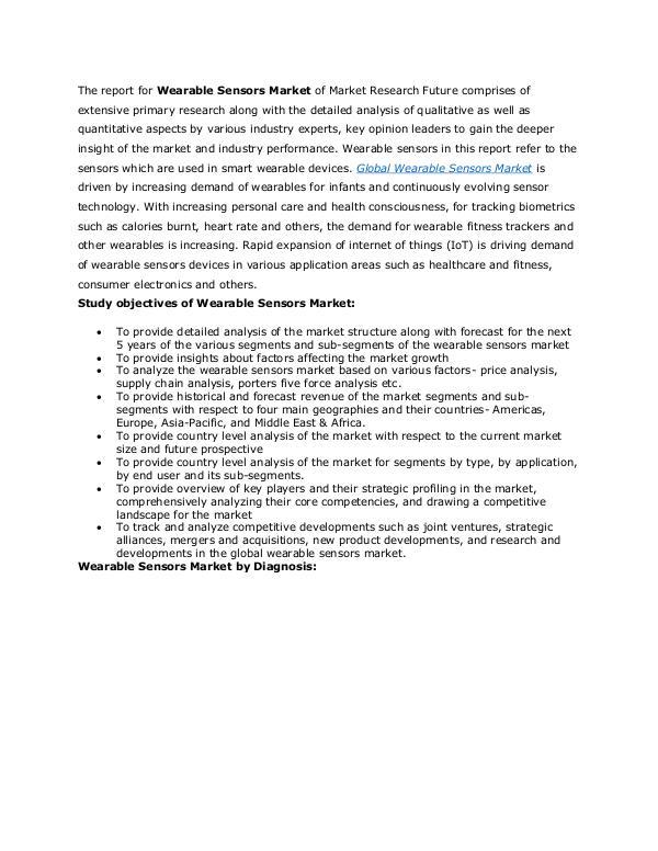 Healthcare Publications Wearable Sensors Market
