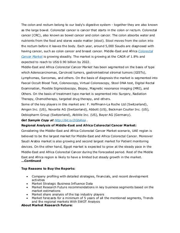 Healthcare Publications Colorectal Cancer Market