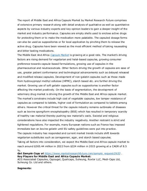 Healthcare Publications Capsule Market