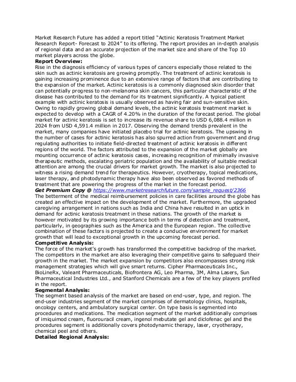 Healthcare Publications Actinic Keratosis Treatment Market 3