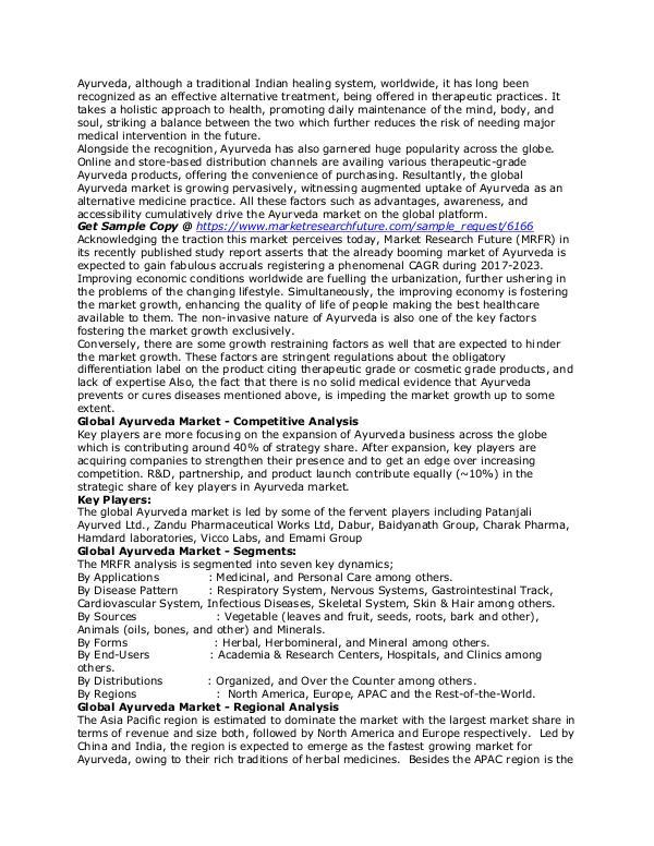 Healthcare Publications Ayurveda Market